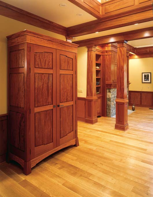 ... The Armoire Serves As An Entry Coat Closet. It Features Very Rare  Beeswing Figure Mahogany ...